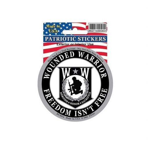 Wounded Warrior Round Full Color Window Decal Sticker Licensed