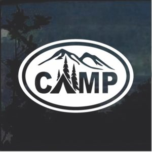 Camp Life Oval Window Decal Sticker