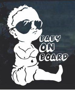 Cool Baby on Board Window Decal Sticker