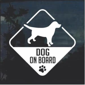 Dog on Board Beagle Window Decal Sticker