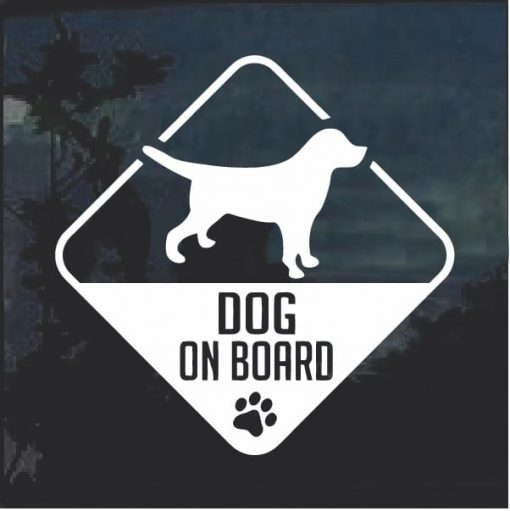 Dog on Board Beagle Window Decal Sticker