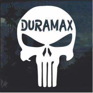 Duramax Punisher Skull Window Decal Sticker