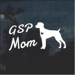 GSP Mom German Pointer Dog Decal Sticker