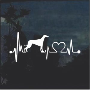 Greyhound Love Heartbeat Window Decal Sticker