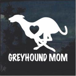 Greyhound Mom Window Decal Sticker