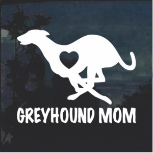 Greyhound Mom Window Decal Sticker