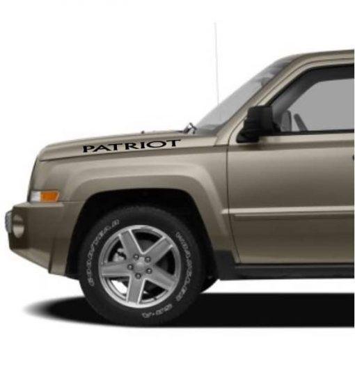 Jeep Patriot Hood Decal Set of 2