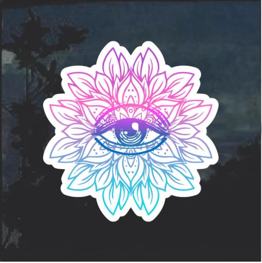 Lotus third eye Window Decal Sticker