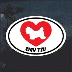 Love my Shih Tzu heart Window Decal Sticker