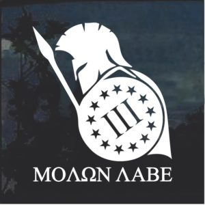 Molon Labe Spartan 3 Percenter Shield Decal Sticker