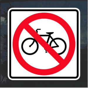 No Bicycles decal sticker