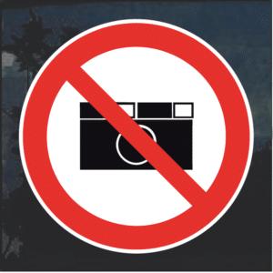No cameras photography decal sticker