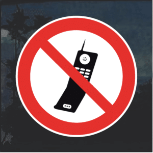 No Cell Phones decal sticker
