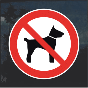 No Dogs Allowed weatherproof decal sticker