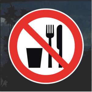 No Food or Drink weatherproof decal sticker