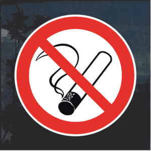 No Smoking weatherproof decal sticker