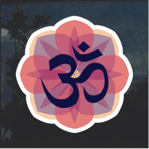 OHM Yoga Flower Window Decal Sticker
