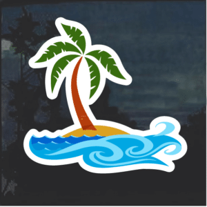 Ocean Beach Life Window Decal Sticker