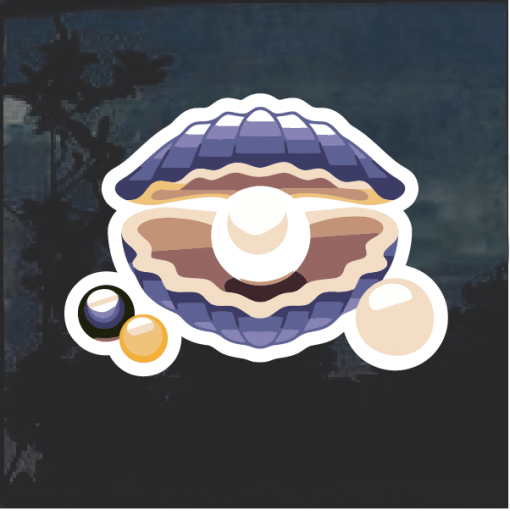 Oyster and Pearl Decal Sticker