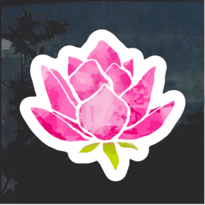 Pink Lotus Window Decal Sticker