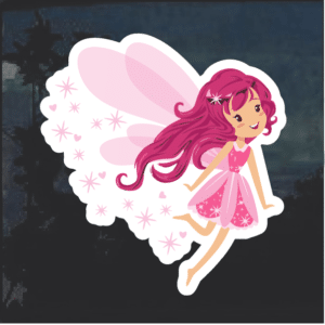 Pink Pixie Fairy Window Decal Sticker