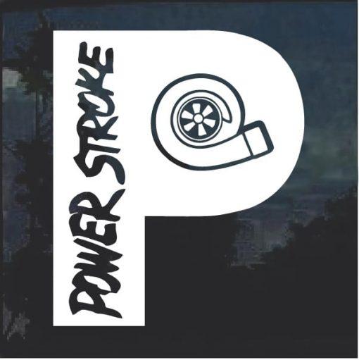 Powerestroke P Diesel Turbo Decal Sticker