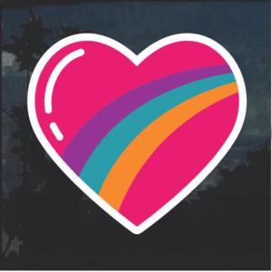 Rainbow Heart Window Decal Sticker
