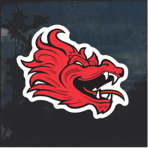 Red Dragon Window Decal Sticker
