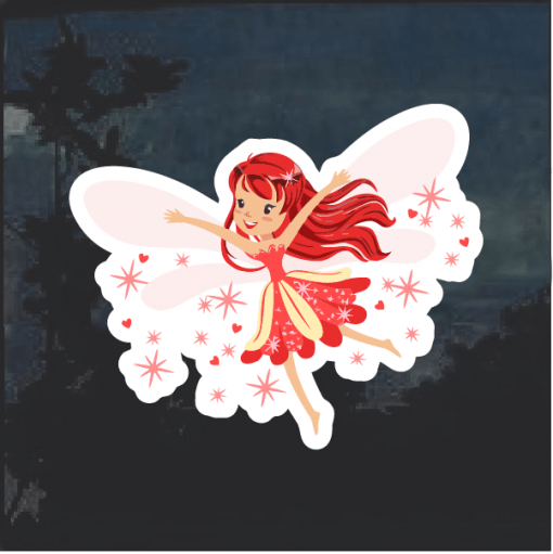 Red Fairy color Window Decal Sticker