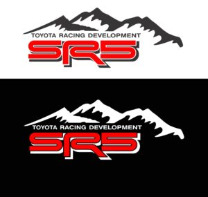 Toyota TRD SR5 Mountains 2 color Decal Set Toyota Trd Stickers A2