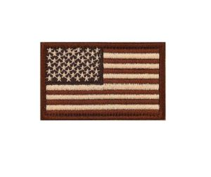 Tactical USA Flag Dark Tan - Brown Moral Patch
