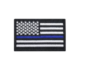 Tactical USA Flag thin blue line moral patch