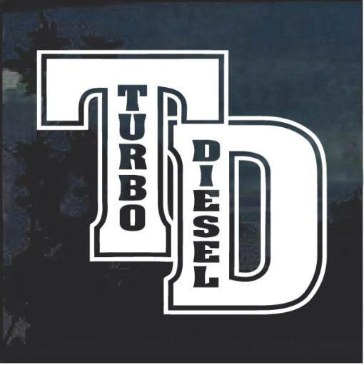 Turbo Diesel Truck Decal Sticker