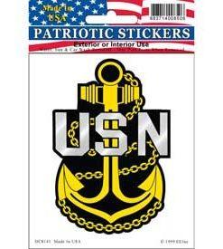 USN Navy Anchor Window Decal Sticker Licensed