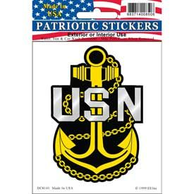 USN Navy Anchor Window Decal Sticker Licensed