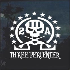 Molon Labe 3 percenter 2A Window Decal Sticker