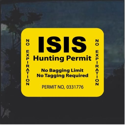 ISIS Hunting Permit Decal Sticker