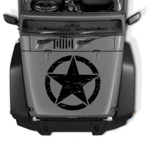 jeep hood star large