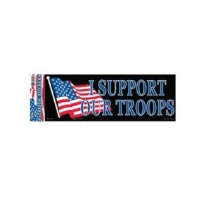 Support Our Troops 3x10 Full Color Decal Sticker