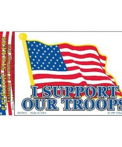 Support Our Troops Full Color Window Decal Sticker