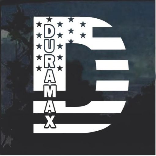 Duramax D American Flag Decal Sticker