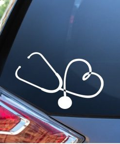 Nurse Stethoscope Heart Nusring Window Decal Sticker