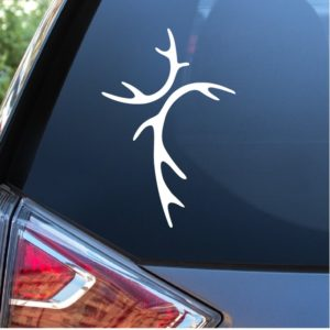 Deer Antler Cross Window Decal Sticker