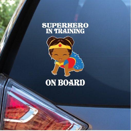 Baby Superhero In Training Decal Sticker
