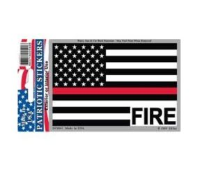 Fire Fireman Red Line reflective Full Color Window Decal Sticker Licensed