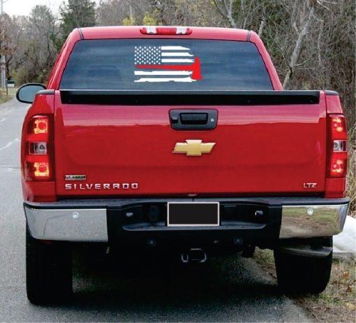 Firemen weather Flag Axe truck decal sticker
