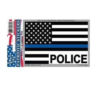 Police Blue Line reflective Full Color Window Decal Sticker Licensed