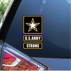 US Army Strong Full Color Decal Stickers