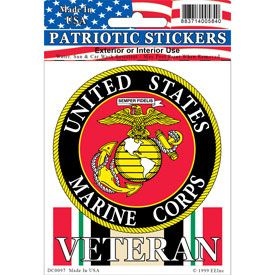 US Marines Iraqi freedom Veteran Full Color Window Decal Sticker Licensed