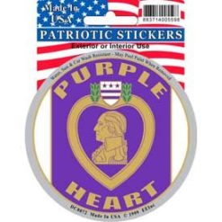 Purple Heart Military Full Color Window Decal Sticker Licensed